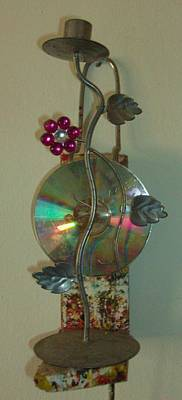 Candle Stand Mixed Media - Light And Sound by Mcjohn Adebola