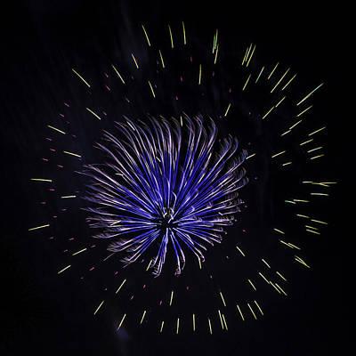 Photograph - Artistic Fireworks by Paula Porterfield-Izzo
