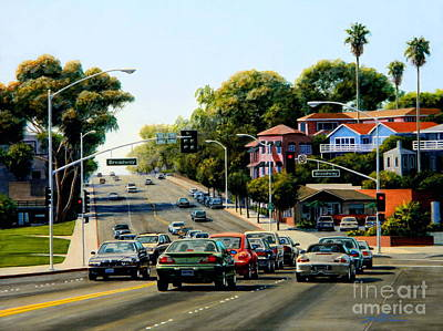 Light At Broadway Laguna Art Print by Frank Dalton
