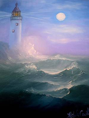 Painting - Light At Sea by Natascha de la Court