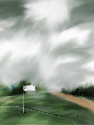 Digital Art - Light At The 17th Green by Frank Bright