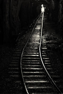 Train Tracks Photograph - Light At The End Of The Tunnel by Naman Imagery