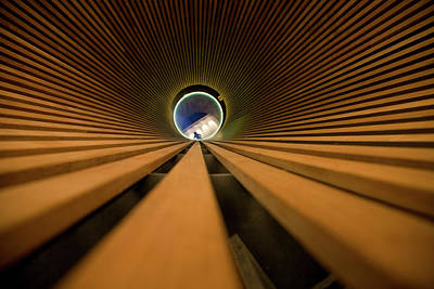 Green And Brown Photograph - Light At The End Of The Tunnel by Matthew Bamberg