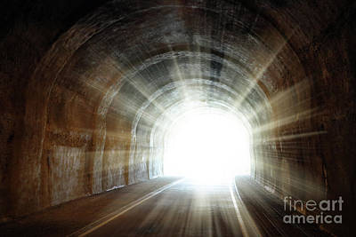 Photograph - Light At The End Of The Tunnel by Michal Boubin