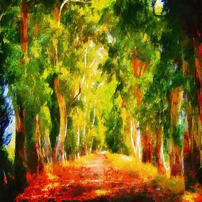Painting - Light At The End Of The Tunnel by Tracey Harrington-Simpson