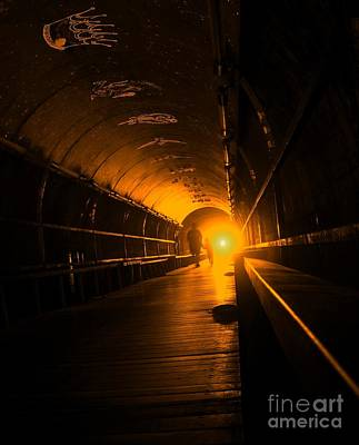 Light At The End Of The Tunnel Art Print by Yali Shi