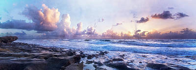 Photograph - Light At The Shore Panorama by Debra and Dave Vanderlaan
