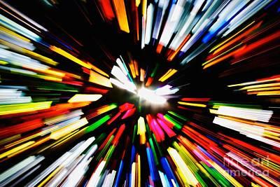 Light Beams Art Print by Hideaki Sakurai
