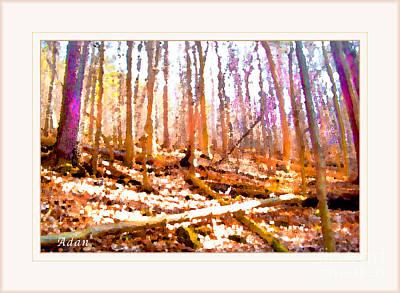 Art Print featuring the photograph Light Between The Trees by Felipe Adan Lerma