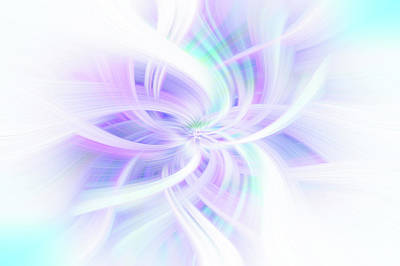 Photograph - Light Blue Purple Abstract. Concept Lightness by Jenny Rainbow