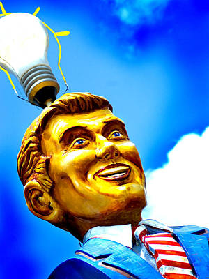Austin Photograph - Light Bulb Man by John Gusky