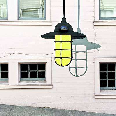 Light Bulb Mural Art Print