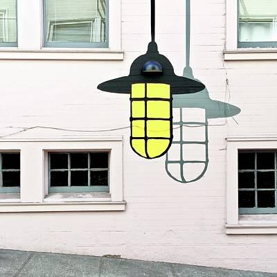Wall Art - Photograph - Light Bulb Mural by Julie Gebhardt
