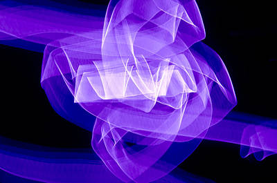 Art Print featuring the photograph Light Bulb Purple by Kevin Blackburn