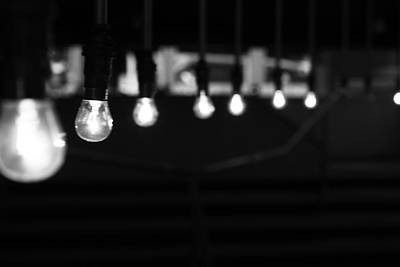 In A Row Photograph - Light Bulbs by Carl Suurmond