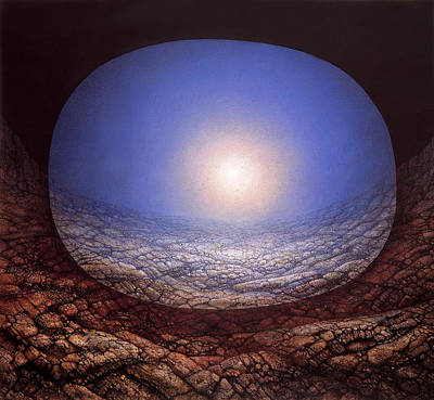 Origins Of Life Painting - Light Cell by De Es Schwertberger