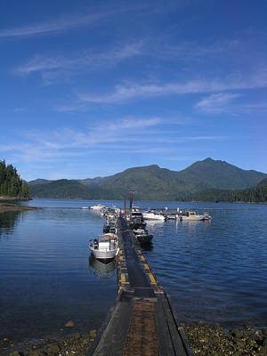 Photograph - Light Clouds And Blue Reflections by Nootka Sound