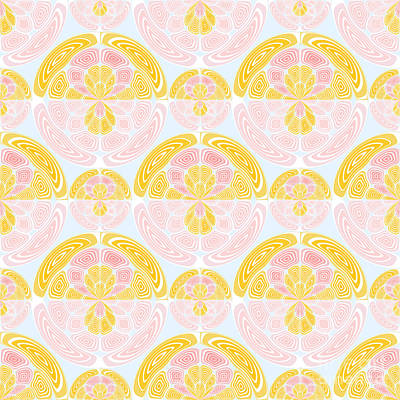 Algorithmic Digital Art - Light Colored Pattern by Gaspar Avila