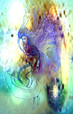 Art Print featuring the painting Light Dancer by Ragen Mendenhall