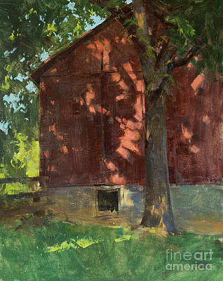 Wall Art - Painting - Light Dancing At The Clapp Barn by Patrick Saunders