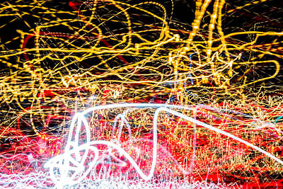 Photograph - Light Dazzle Vortex Ufa 2015 #2 by John Williams