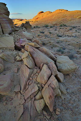 Keith Richards Royalty Free Images - Light Fading on Valley of Fire Royalty-Free Image by Ray Mathis