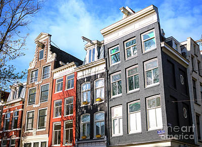 Photograph - Light Falling On The Dutch Houses by John Rizzuto