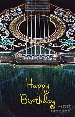 Digital Art - Light Fantastic 1-happy Birthday Card by Wendy Wilton