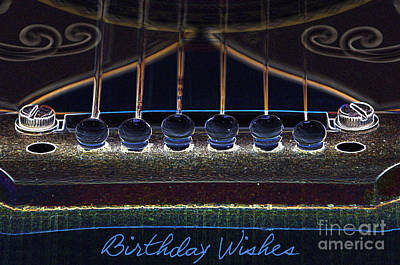 Digital Art - Light Fantastic-birthday Wishes Card by Wendy Wilton