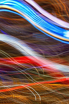 Abstract Skyline Photograph - Light Flow by Az Jackson