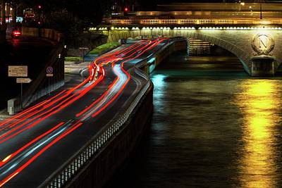 Photograph - Light Flow To Pont Notre-dame  by Hany J