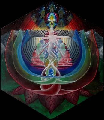 Prana Wall Art - Painting - Light Flower by Justin Struble