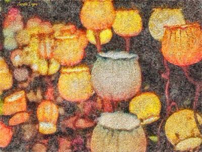 Stalk Digital Art - Light Flowers - Da by Leonardo Digenio