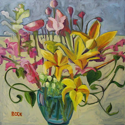 Painting - Light Flowers by Leslie Rock