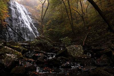 Photograph - Light From Behind The Fog At Crabtree Falls by Carol Montoya