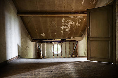 Light From The Spooky Attic - Abandoned Building Art Print
