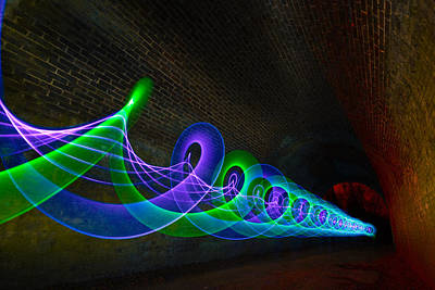Photograph - Light Graffiti  by Will Gudgeon