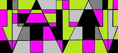 Digital Art - 'light Green And Pink 2' by Linda Velasquez