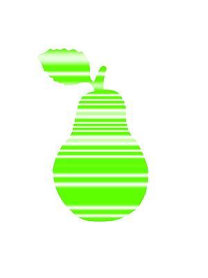 Digital Art - Light Green Pear by Kathleen Sartoris