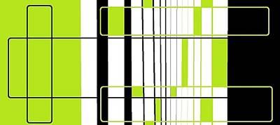 Digital Art - 'light Green, White And Black 2' by Linda Velasquez