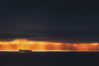 Photograph - Light Highway by Mikel Martinez de Osaba