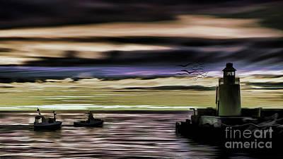 Ocean Painting - Light House 03 by Gull G