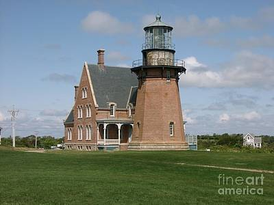 Landscape Painting - Light House - Block Island, Ri by Anthony Morretta
