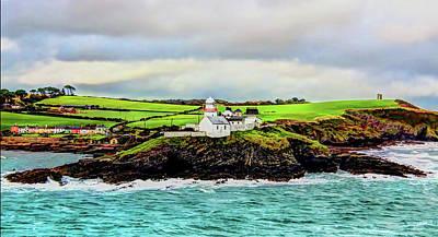 Digital Art - Light House Cobh Ireland Paint Effect by Tom Prendergast