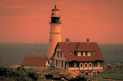 Photograph - Light House In Rockport Maine by Carl Purcell