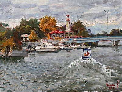 Shores Painting - Light House Mississauga by Ylli Haruni