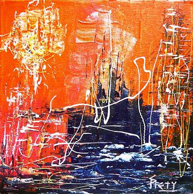 Pietyz Abstractz Artz World Painting - Light House by Piety Dsilva