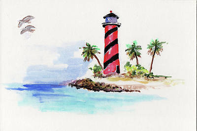 Painting - Light House Sketch  by Thomas Lupari