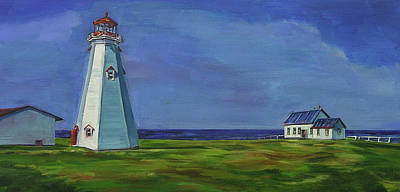 Painting - Light House, White House by Christine Montague