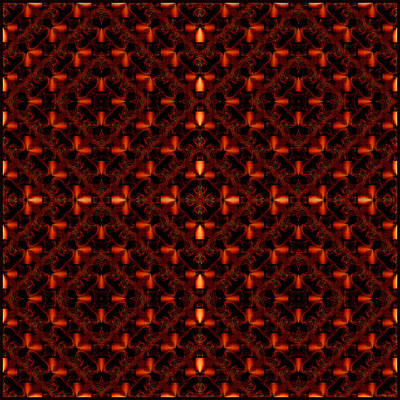 Digital Art - Light In A Pattern-red Squares by Gillian Owen